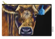 Cow Art - Lucky Number Seven Carry-all Pouch