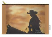 Cow Girl At Sunset Carry-all Pouch