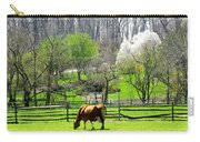 Cow Grazing In Pasture In Spring Carry-all Pouch