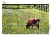 Cow Grazing In Pasture Carry-all Pouch