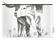 Cow In Pen And Ink Carry-all Pouch