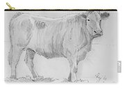 Cow Pencil Drawing Carry-all Pouch