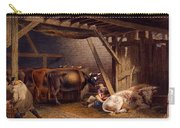 Cow Shed Carry-all Pouch by Robert Hills