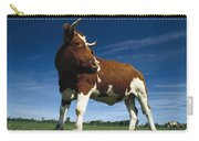 Cow Standing In Field Germany Carry-all Pouch