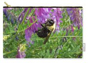 Cow Vetch Wildflowers And Bumble Bee Carry-all Pouch