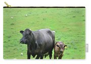 Cow With Calf On Thorpe Hillside Carry-all Pouch