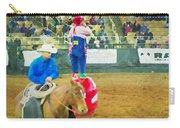 Cowboy And The Clown Carry-all Pouch