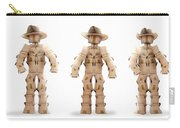Cowboy Box Characters On White Carry-all Pouch