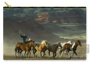 Cowboy Driving Horses Carry-all Pouch