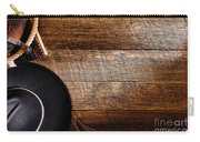 Cowboy Gear On Wood Carry-all Pouch