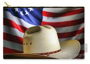 Cowboy Hat And American Flag Carry-all Pouch