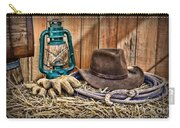 Cowboy Hat And Rodeo Lasso Carry-all Pouch by Paul Ward