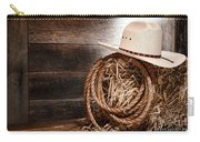 Cowboy Hat On Hay Bale Carry-all Pouch