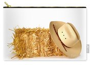 Cowboy Hat On Straw Bale Carry-all Pouch
