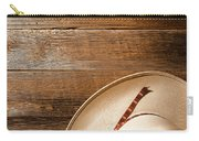 Cowboy Hat On Wood Carry-all Pouch
