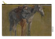 Cowboy In The Badlands Carry-all Pouch