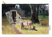 Cowboy On The Outhouse  Carry-all Pouch