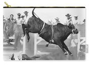 Cowboy Riding A Bull Carry-all Pouch