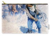 Cowboy Roping Wild Horses Carry-all Pouch