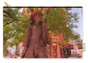 Cowboy Statue In Front Of The Brown Palace Hotel In Denver Carry-all Pouch