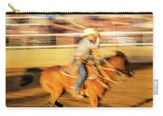Cowboys Ride And Rope Cattle During San Carry-all Pouch