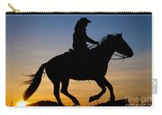 Cowgirl At Sunrise Carry-all Pouch
