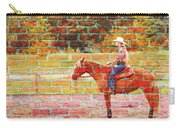 Cowgirl In Bricks Carry-all Pouch