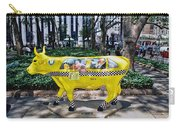 Cow Parade N Y C 2000 - Taxi Cow Carry-all Pouch