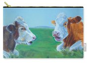Cows Lying Down Chatting Carry-all Pouch