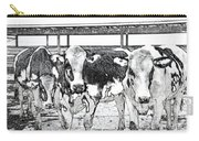Cows Pencil Sketch Carry-all Pouch