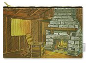 Cozy Fireplace At Lake Hope Ohio Carry-all Pouch