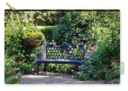 Cozy Southern Garden Bench Carry-all Pouch by Carol Groenen