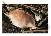 Crab Shell Carry-all Pouch by William Selander
