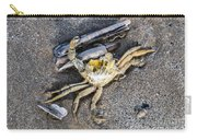 Crab With A Feather Carry-all Pouch