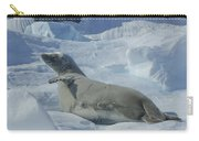 Crabeater Seal On An Iceberg Carry-all Pouch
