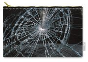 Cracked Glass Of Car Windshield Carry-all Pouch