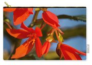 Crackling Fire Begonia Carry-all Pouch