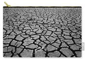 Cracks For Miles Black And White Carry-all Pouch