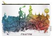 Cracow City Skyline Map Carry-all Pouch