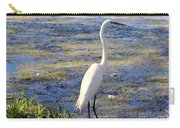 Crane At Pond Carry-all Pouch