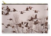 Cranes Across The Sky Carry-all Pouch by Don Schwartz