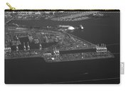 Cranes Long Beach Ca Aerial Bw Carry-all Pouch