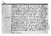 Cranmer Declaration, 1537 Carry-all Pouch