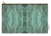 Crashing Waves Of Green 1 - Panorama - Abstract - Fractal Art Carry-all Pouch
