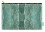 Crashing Waves Of Green 4 - Square - Abstract - Fractal Art Carry-all Pouch