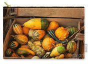 Crate Filled With Pumpkins And Gourts Carry-all Pouch