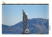 Crater Lake Lightning Tree Art Prints Blue Carry-all Pouch