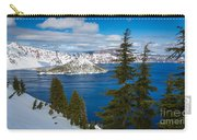 Crater Lake Winter Panorama Carry-all Pouch