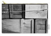 Crates At The Orchard 2 Bw Carry-all Pouch