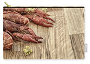 Crayfish On Wooden Platter. Carry-all Pouch